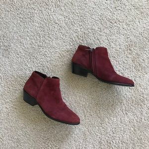 Sam Edelman maroon petty ankle boots, size 6.5